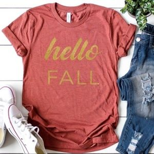 Happy Fall Tee in Heather Clay